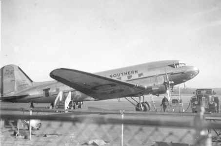 C & S Airline DC-3 on ramp in St. Louis