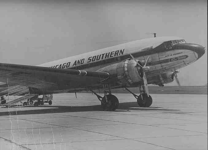 Chicago & Southern Airlines DC-3 at BPT