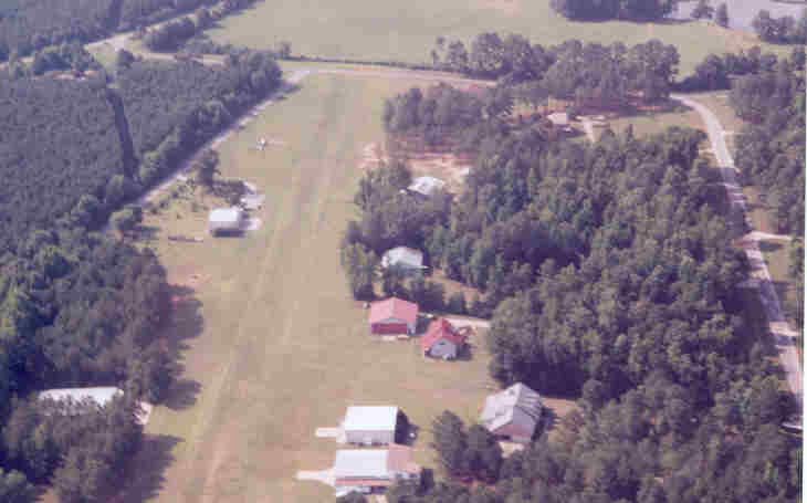 Aerial view of the Flying-N-Estates