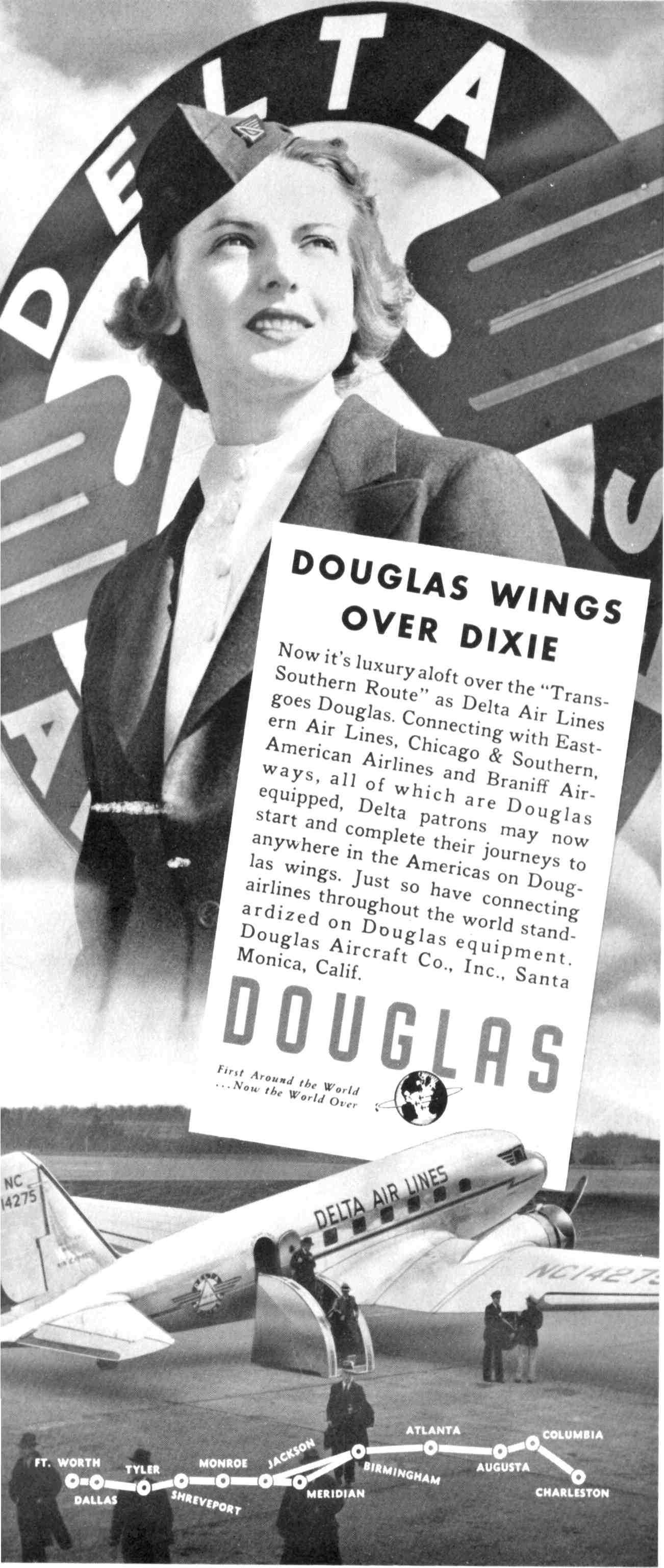 Advertisment by Douglas Aircraft for Deltas DC-2's