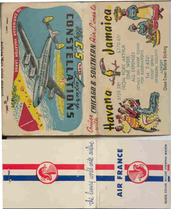 JPEG of C and S and Air France matchbooks